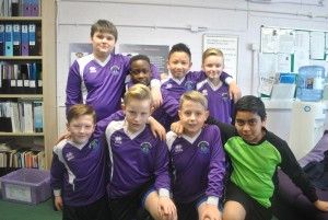 The Y5 Football Team ready for their tournament