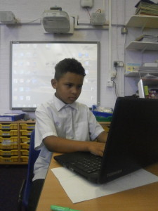 Using our laptops