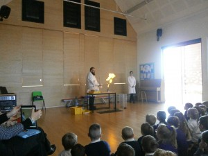 Bangs and Flames Assembly- Milton Cross Amazing flames, explosions and firing rockets.