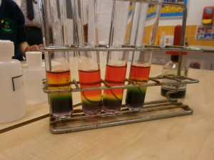 Harry Potter Potions - Milton Cross Mixing chemicals to make reactions. Creating rainbows in a test tube
