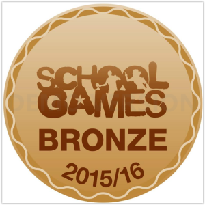 The school has been awarded the Bronze Award for Sports for the 2015 - 2016 academic year