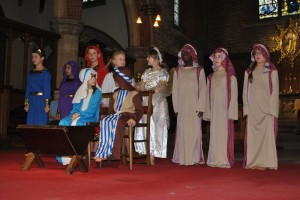A scene from Key stage two's carol service.
