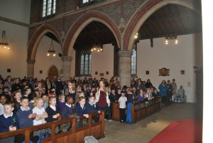 Key Stage two carol service.